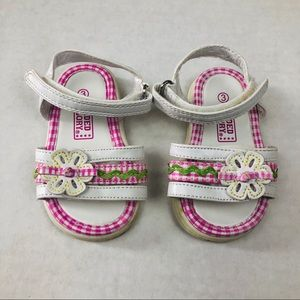 Faded Glory Girls Floral Summer Sandal Size 3